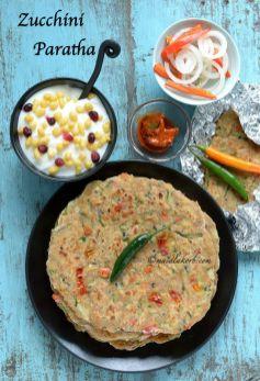 Zucchini Paratha Easy Indian Flatbread Recipe