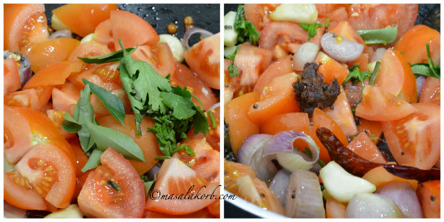 Onion Tomato Thokku Recipe - Side Dish For Idli Dosa