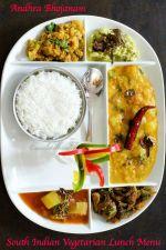 South Indian Vegetarian Lunch Menu Andhra Bhojanam