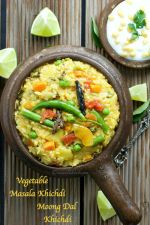 Vegetable Masala Khichdi Spicy Moong Dal Khichdi Recipe