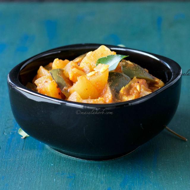 Dosakaya Tomato Curry Andhra Style, Yellow Cucumber Curry