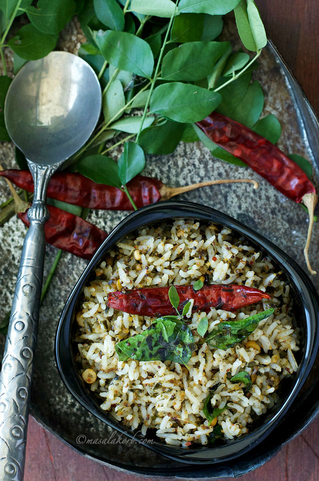 Karuveppilai Rice Recipe or Curry Leaves Rice Recipe