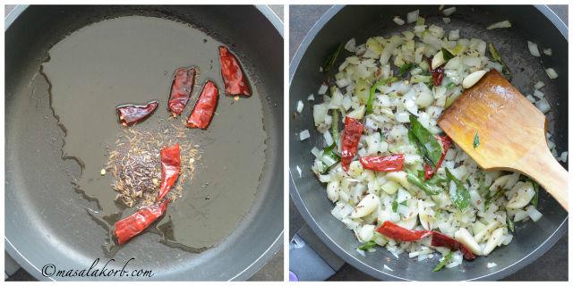 Thotakura Podi Koora, keerai poriyal, Amaranth Curry