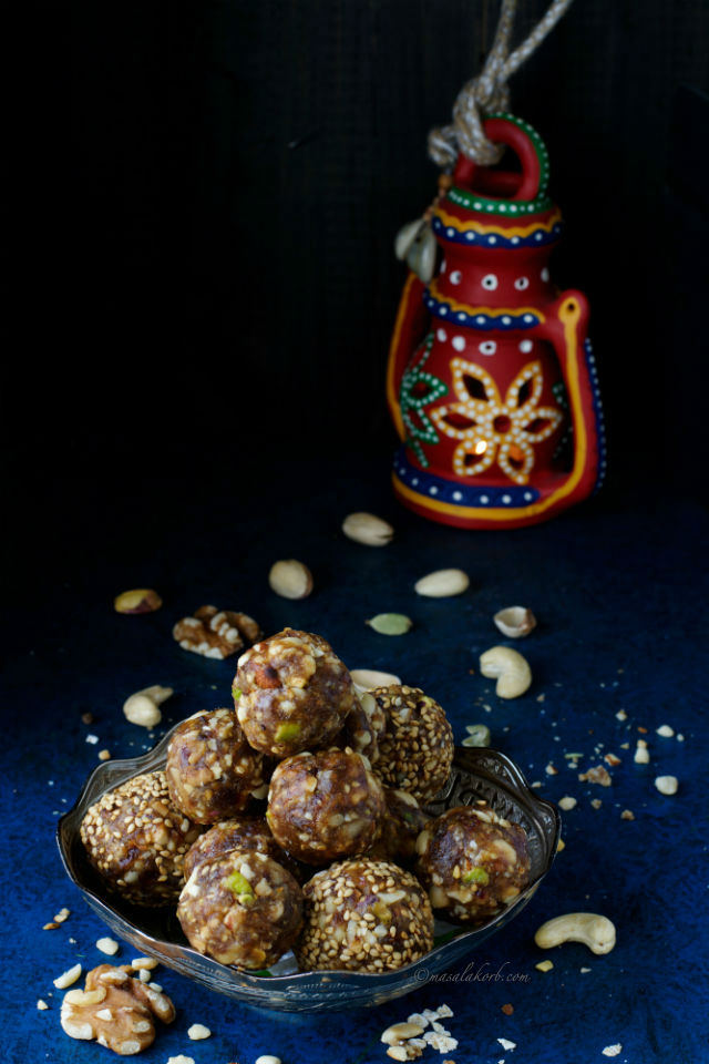 Date Nut Ladoo, Mix Dry Fruit Laddu