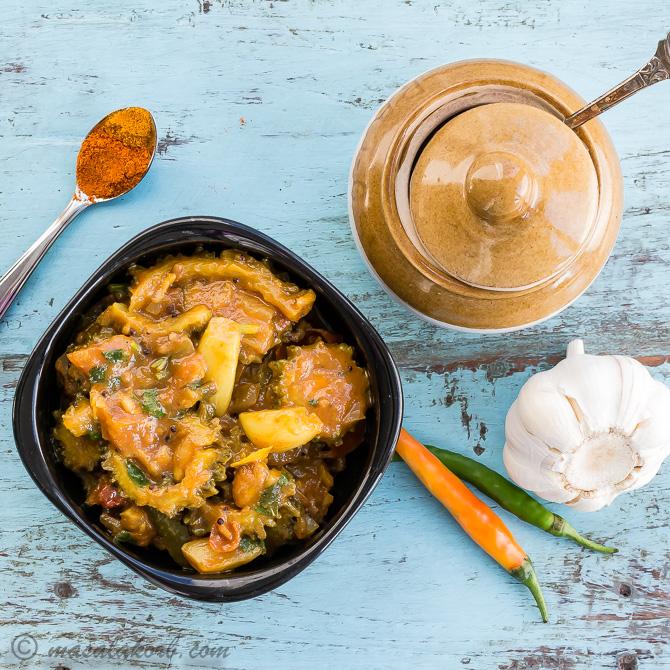 Kakarakaya Pulusu Kura, Bitter Gourd Gravy Recipe