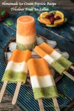 Homemade Ice Cream Popsicle Recipe, Fruit Juice Ice Lollies