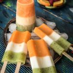 Homemade Ice Cream Popsicle Recipe | Fruit Juice Ice Lollies | Tricolour popsicle Recipe | Fruit Juice Pops | How to make a Fruit Ice | Tiranga Popsicle | Independence Day Special Recipe
