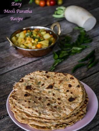 Easy Mooli Paratha Recipe, Radish Chapati, Muli Paratha