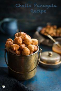 Andhra Challa Punugulu Recipe