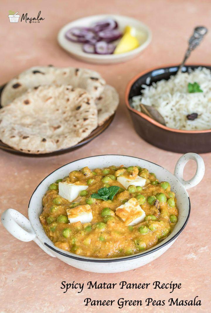 Spicy Matar Paneer Recipe, Paneer Green Peas Masala