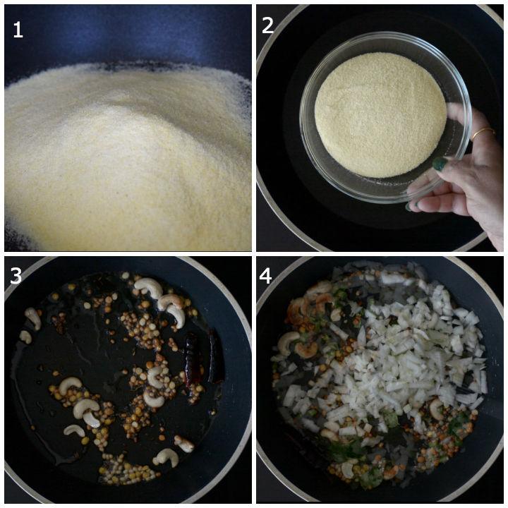 Step1 Upma Recipe