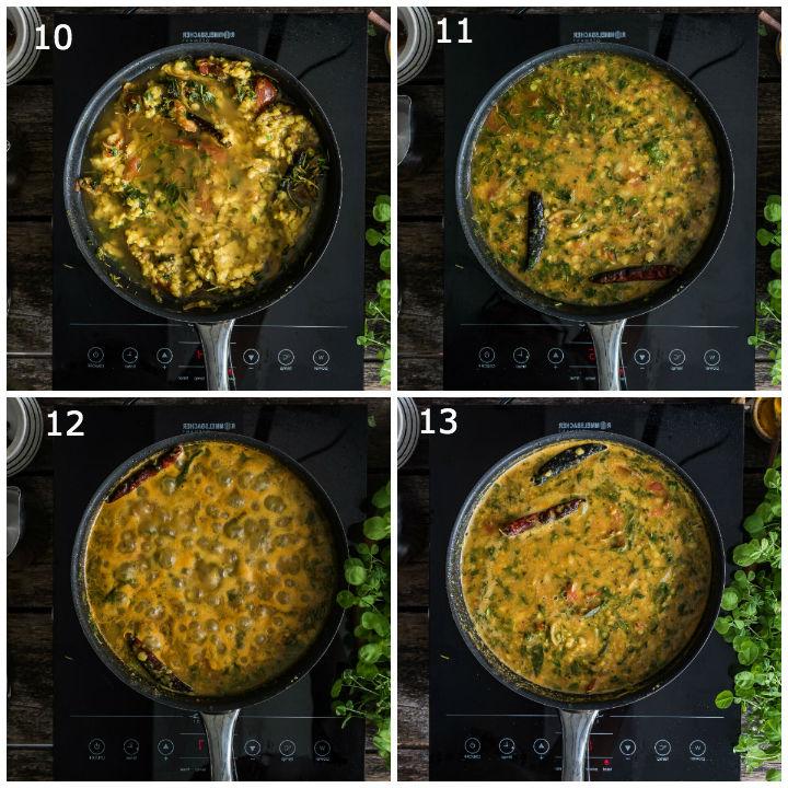 Menthi Kura Pappu Recipe Step2