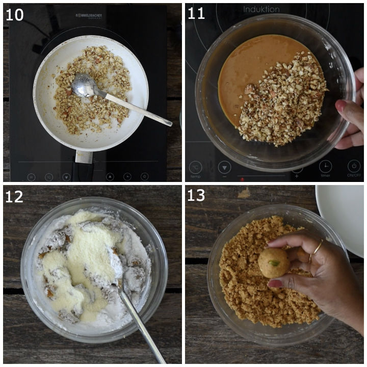 besan laddu preparation