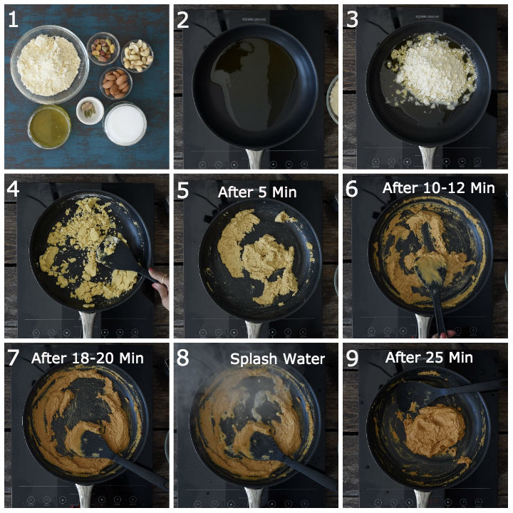 how to make besan ladoo at home