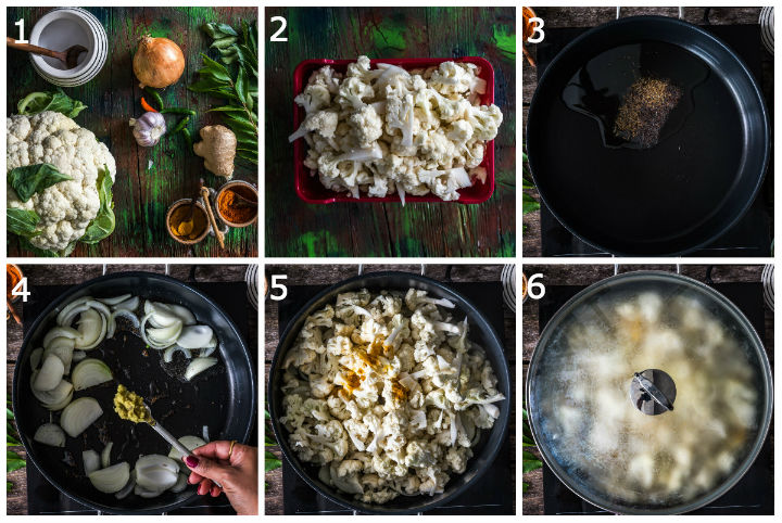 Cauliflower Pepper Fry Chettinad Step1