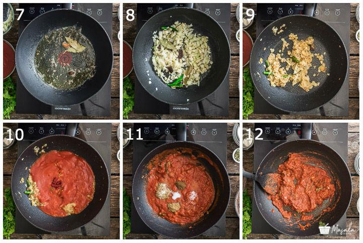 Preparing gravy for Lentil stew Step 2