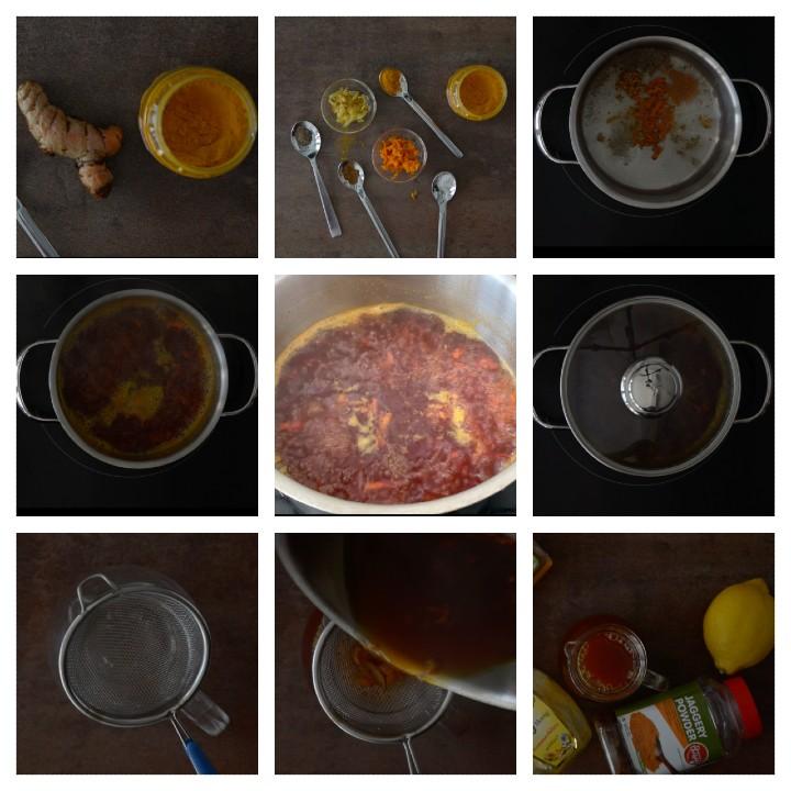 Turmeric Ginger Tea Recipe Steps