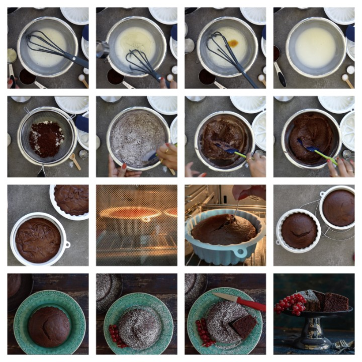 Eggless Chocolate Cake Recipe steps