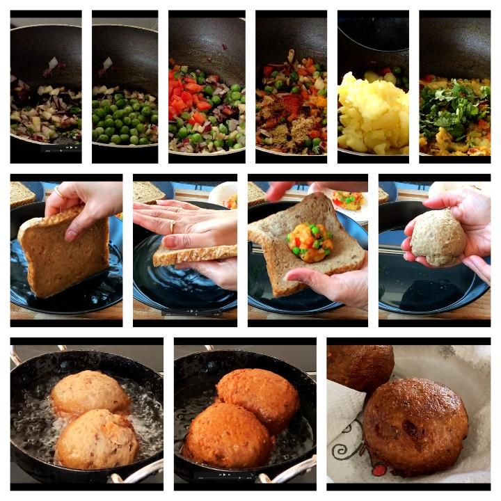Potato Bread Rolls Recipe Indian - Bread Bonda Recipe steps
