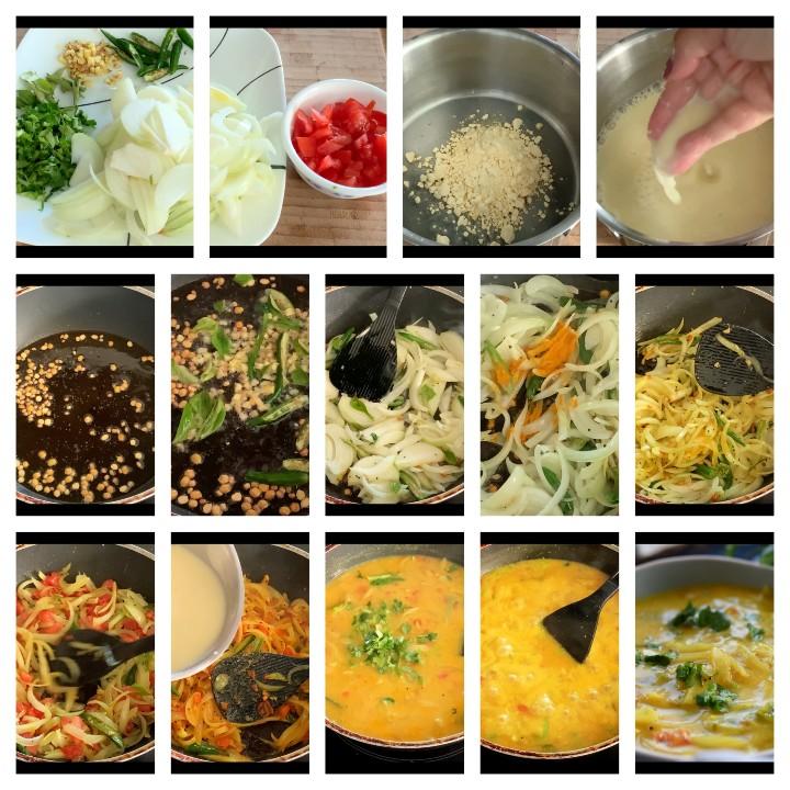 Steps to follow for Bombay Chutney Recipe Andhra Style - Besan Chutney