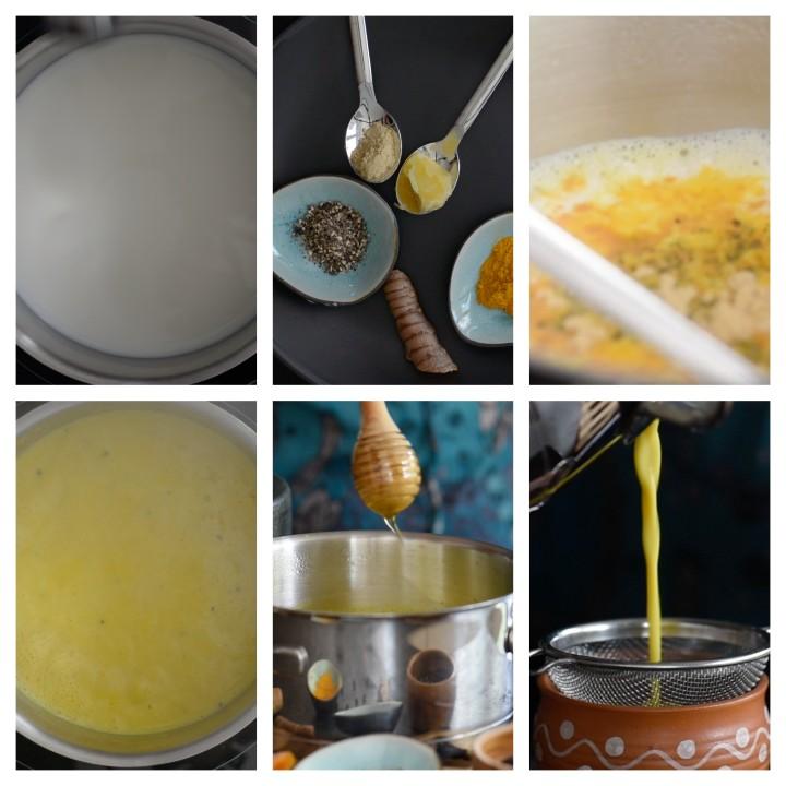 Golden Turmeric Milk Recipe aka Haldi Doodh steps