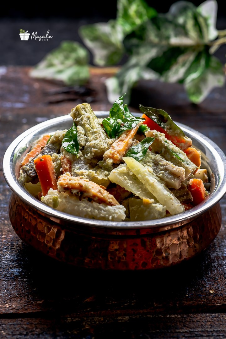 South Indian avial with assorted vegetables