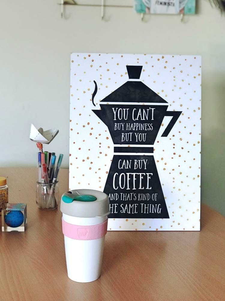 lamina you cannot buy hapiness but you can buy coffee