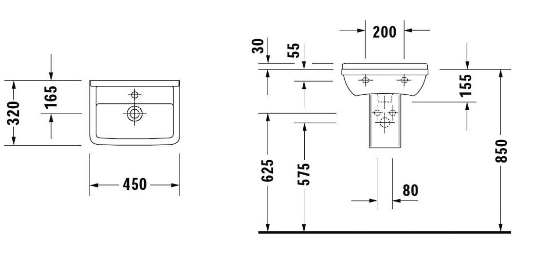 Lave Main 45x32 Cm En Cramique Starck 3