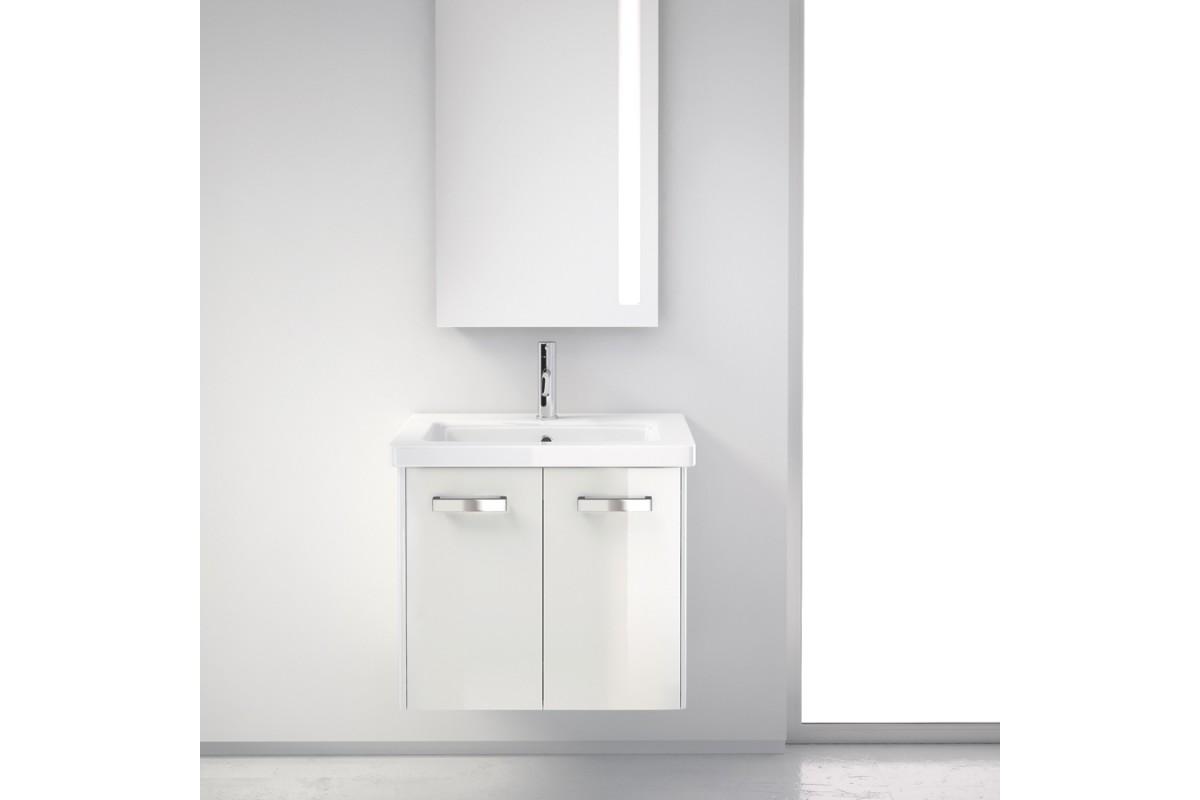 Meuble De Salle De Bain Easy 60 Cm Suspendu Simple Vasque 2 Portes Masalledebaindesign Fr