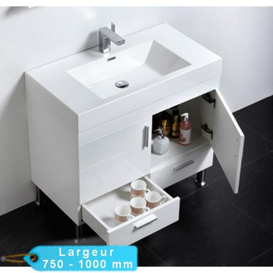 Meuble De Salle De Bain Simple Vasque A Poser Klassyk Cubique Avec Miroir Masalledebaindesign Fr