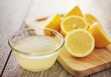 Mascarilla de jugo de limón