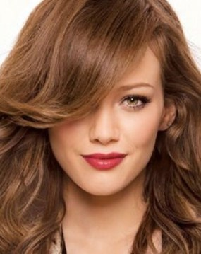 cabello color miel dorado