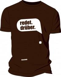 """Das maschek T Shirt No. 1 """"redet.drüber"""""""