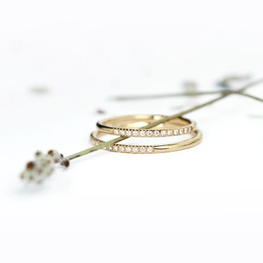 Double layered eternity ring - made in italy with gold and diamonds _ maschio gioielli milano