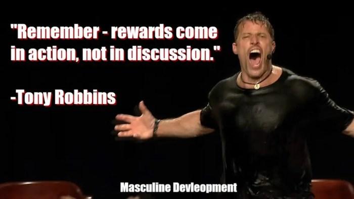 masculine development tony robbins quote