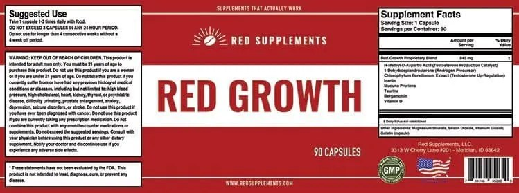 Red growth PCT
