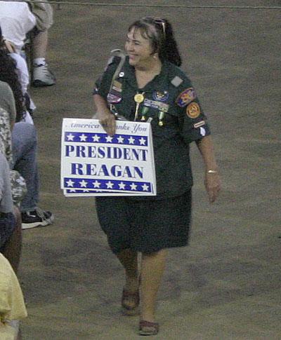 reagan sign lady