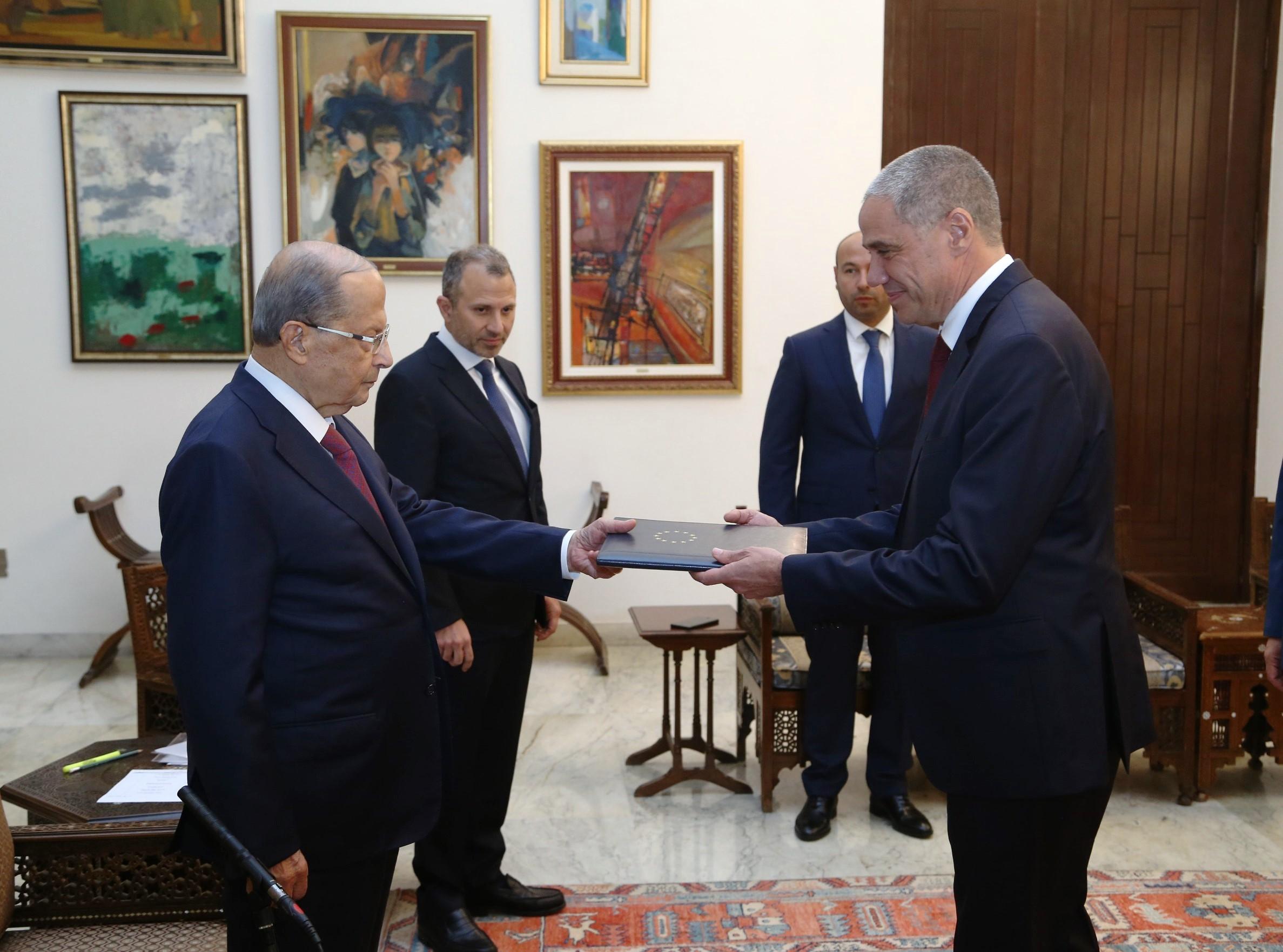 رالف طرّاف سفيرا معتمدا جديدا للإتحاد الأوروبي في لبنان