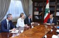 عون يبلغ طرّاف استغراب لبنان دعوة اوروبية لدمج النازحين في المجتمعات المضيفة