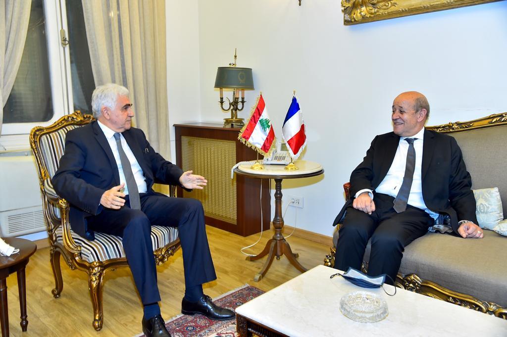 جان-ايف لودريان: مكافحة الفساد والتهريب واستقلالية القضاء وتعزيز الشفافية امور اساسية لمستقبل لبنان