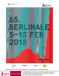 The official poster of the 65th Berlin International Film Festival, designed by the BOROS Agency