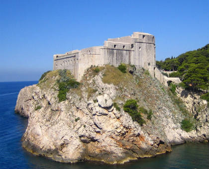 La splendida fortezza di Lovrijenac