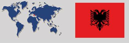 bandiera planisfero albania