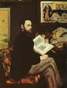 Zola ritratto da Manet
