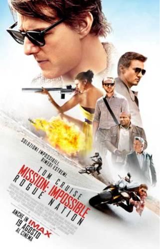 la locandina italiana di Mission Impossible Rogue Nation