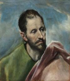 Domenikos Theotokopoulos detto El Greco (Candia 1541 - Toledo 1614) San Giacomo minore 1585-1590 ca. Olio su tela, 49,5x42,5 cm ©Museum of Fine Arts, Budapest 2015