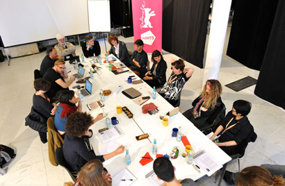 The 2016 Script Station at work - Photo by Bettina Ausserhofer, Berlinale 2016