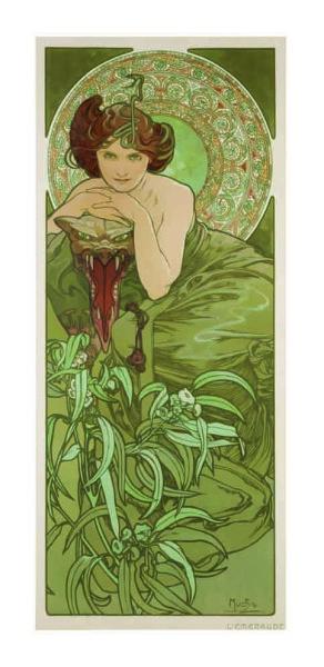 Alfons Mucha, Lo Smeraldo, in Les Pierres Précieuses, 1900.