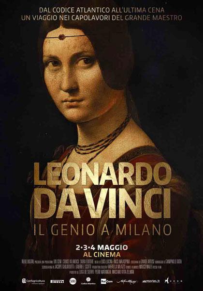 Leonardo da Vinci il Genio a Milano - locandina