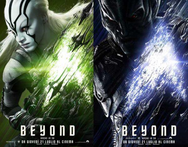 I character poster di Jaylah e Krall in Star Trek Beyond